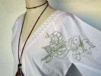 アジアン 刺繍 ブラウス