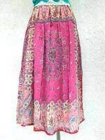 アジアンファッション スカーフプリント スカート