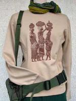 アフリカン ガール プリントのスウェットシャツ