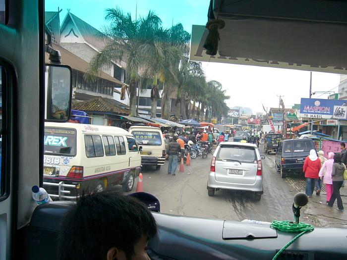 インドネシアバンドン市内