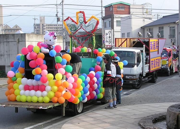 新居浜コンガ祭りの準備