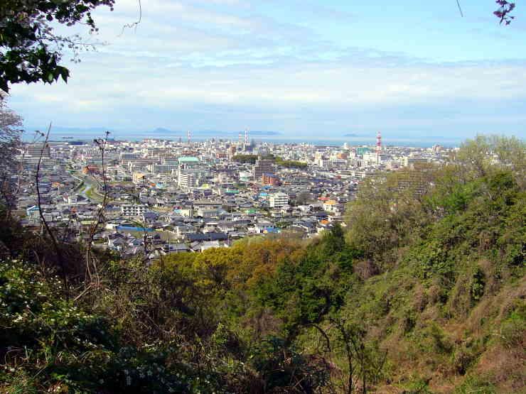 新居浜市金子山展望台からの眺望