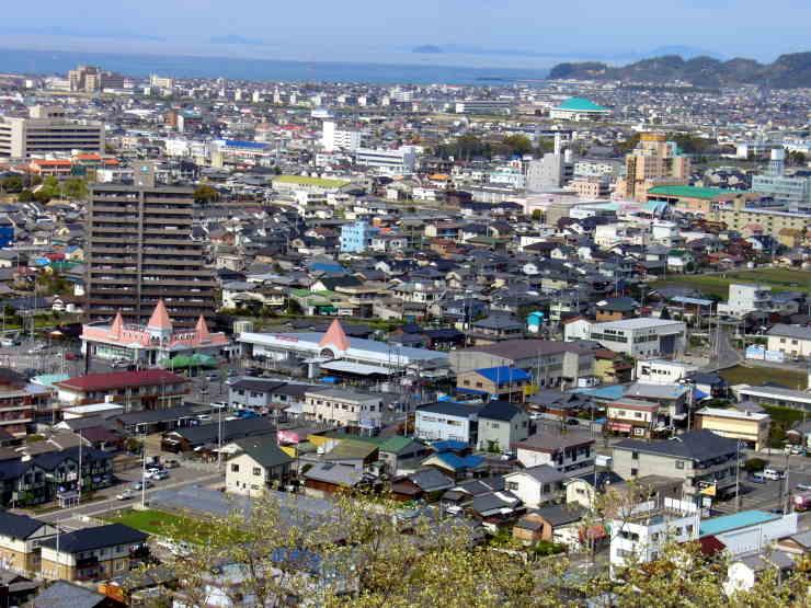 新居浜市金子山からの眺望