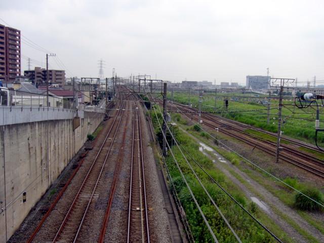 東海道線。横須賀線JR線路