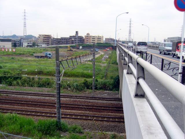 東海道線、横須賀線JR線路