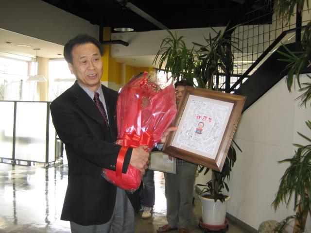 3月9日、社長が還暦をむかえました。