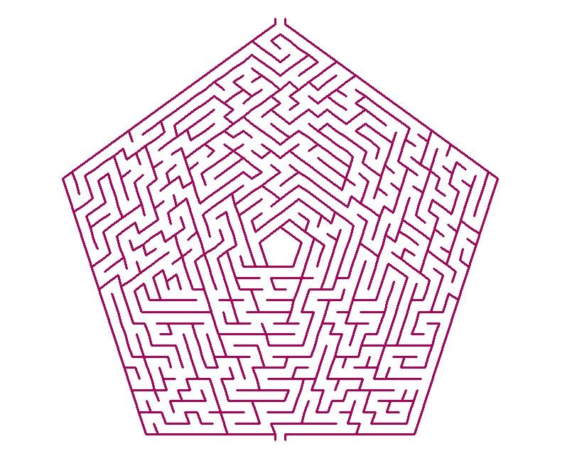 脳を多角的に鍛える大人の脳トレ今日は五角形の迷路です 紙一枚で脳