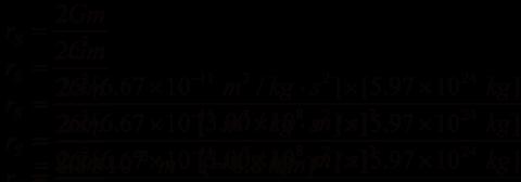 Schwarzschild Radius of the Earth