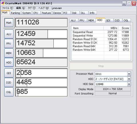 CrystalMark 2004R3 0.9.126.451