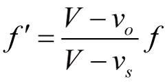 「ドップラー効果 公式」の画像検索結果