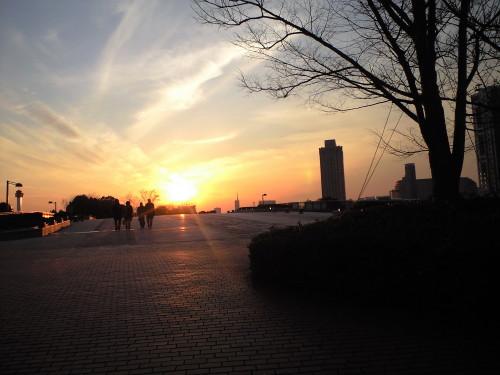 お台場の夕日