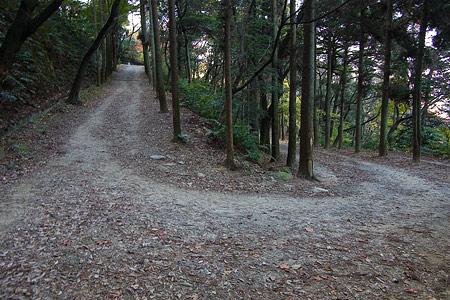 小牧山城へと続く道