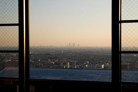 小牧山城天守から見る名古屋駅方面