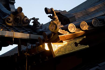 日吉神社と西日