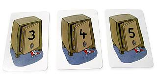 暗証番号を解け:見つけた並び数に応じて取るカード