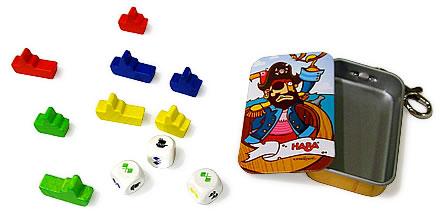 キーホルダーゲーム・海賊ギャンブル:展示用写真