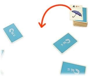 ハンカチ落とし:新しいカードの補充