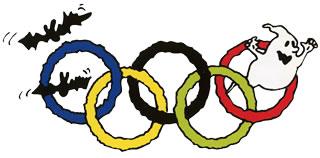 おばけの試験:ぶきみオリンピックのロゴ
