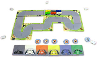 レーシングゲーム・フルスピード:遊戯中