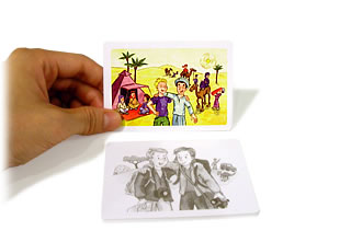 数えるのはどれ?:写真カードをめくる